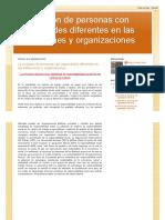 La Inclusión de Personas Con Capacidades Diferentes en Las Instituciones y Organizaciones