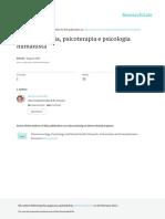 Fenomenologia, Psicoterapia e Psicologia Humanista