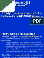 Biometrics 2011 II 7