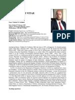 Cirriculum Vitae With Publication List, Vladimir M. Cvetkovic, University of Belgrade, Faculty of Security