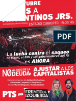 #EncuentrosAnticapitalistas en Argentinos Juniors