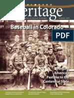 Colorado Heritage Magazine - Summer 2018