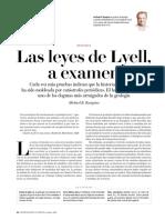 Las Leyes de Lyell, a examen