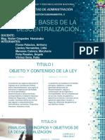 LEY DE BASES DE LA DESCENTRALIZACION