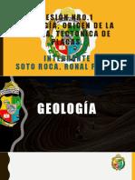 GEOLOGÍA, ORIGEN DE LA TIERRA, TECTÓNICA DE PLACAS