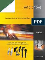 Tabela de aplicação de velas em motos - NGK 2018