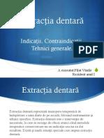 Extractzia dentara prezentare