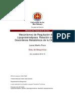 Regulacion, Obesidad Desordenes Metabolicos