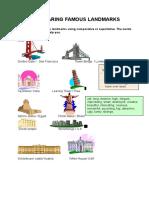 Adjectives Comparing Famous Landmarks Grammar Drills Oneonone Activities 8141 (4)