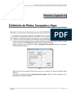 Práctica 6 Definición de pilotes encepados y vigas Tricalc