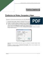 Tricalc Práctica 6 Definición de pilotes encepados y vigas Tricalc