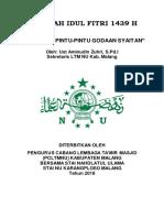 Khutbah Iedul Fitri 2018 PCLTMNU Edit