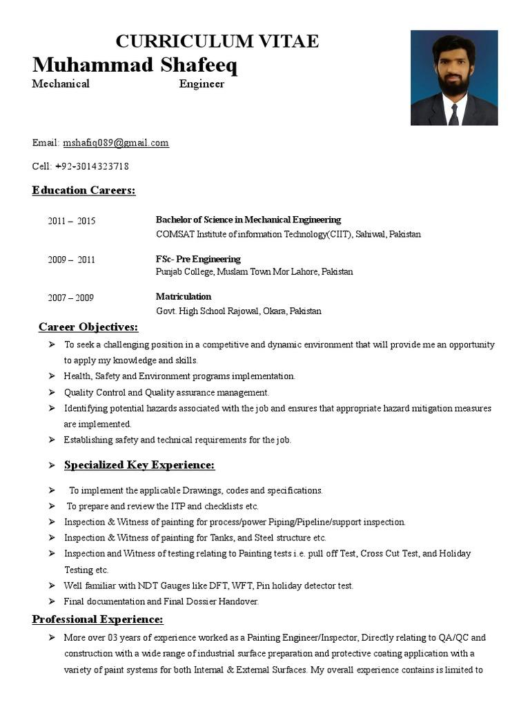 CVmc | Quality Assurance | Specification (Technical Standard)
