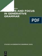 0 Ellipsis and Focus in Generative Grammar-Mouton de Gruyter (2005)