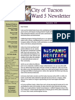 Vice Mayor Richard Fimbres Ward 5 Newsletter - September 2018