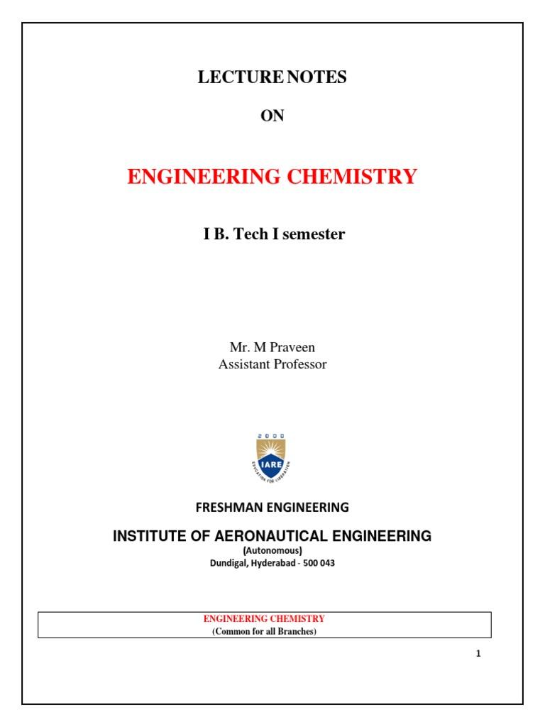 Chemistry Notes pdf 1st Year pdf | Corrosion | Electrochemistry