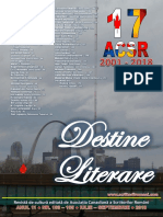Destine Literare - 26 Septembrie 2018
