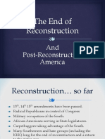 end of reconstruction ppt