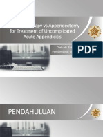 Antibiotic Therapy vs Appendectomy for Treatment of Uncomplicated Acute Appendicitis v2.0