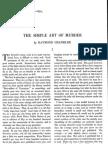 Raymond Chandler - The Simple Art of Murder