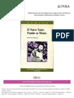 El Nuevo Teatro Popular en México [Donald h Frischmann]
