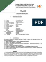 Silabo Bioquimica Nutricional 2018 -i Nutricion Humana-Original