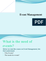 What is the Need for Events