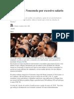 Polémica en Venezuela Por Excesivo Salario de Militares