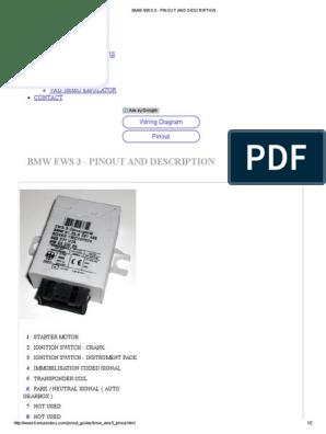bmw ews 3 pinout and description bmw factory wiring diagrams bmw ews wiring diagram #10