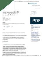 SAIJ - Modificatoria de La Ley 8.465 - Código de Ejecución de La Pena Privativa de La Libertad de La Provincia de Mendoza