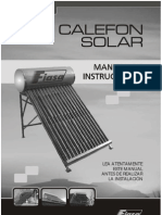 FIASA Manual Calefon Solar
