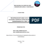 Plan de Tesis Flotacion Relaves Huari Muedas