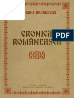 Gheorghe Brancovici - Cronica Românească