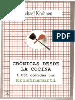 Cronicas Desde La Cocina 1001 Comidas Con Krishnamurti Michael-Krohnen