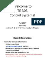 TE 303 Lecture 01