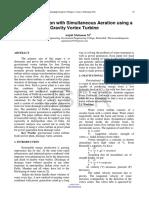 Power Generation With Simultaneous Aeration Using a Gravity Vortex Turbine