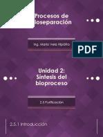 [PBIO] Purificación en bioprocesos