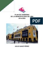 Julio Gagó - Avanza País - Plan de Gobierno - Elecciones 2018