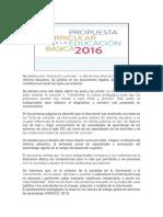 Modelo Educativo 2016. Resumen