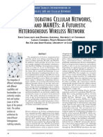 Issues in Integrating Cellular Networks, Wlans, And Manets a Futuristic Heterogeneous Wireless Network