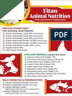 Titan Biotech's Animal Feed Leaflet