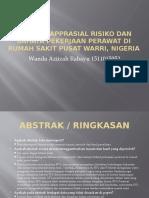 Critical Apprasial Risiko dan Bahaya Pekerjaan Perawat di nigeria.pptx