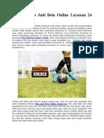 Main Mudah Judi Bola Online Layanan 24 Jam