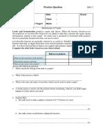 Grade 9 Manufacture of Yogurt Practice Question