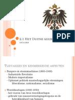 2.1 Duitse Keizerrijk