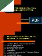 Prinsip-prinsip Hukum Acara Peradilan Konstitusi