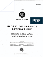 The SU Fuel Pump Index of Service Literature AKD 4792A