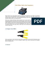 Alat - Alat Fiiber Optic Dan Fungsinya