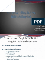 American English vs British