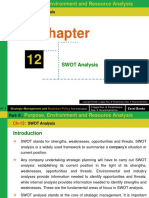 Ch- 12 (SWOT Analysis)